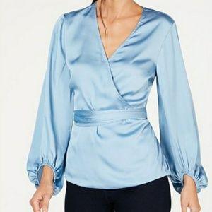 INC International Concepts Silky Blue Blouse